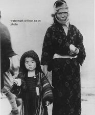 """Japanese mother and son after Nagasaki bombing 8""""x 10"""" World War II Photo #182"""