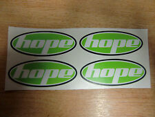HOPE decals/stickers x4 - bike forks/shocks/frame - 90mm GREEN