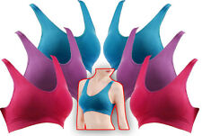 ~TWO 3 PACKS!~ MEDIUM 32 A B C D Bra COLORS Yoga Pilates Sleeping Soft PInk Blue