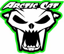Arctic Cat skull snowmobile decal sticker large