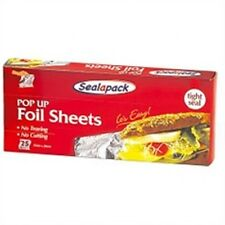Sealapack Kitchenware Pop Up Tin Foil No Tearing & Cutting Baking Sheet Pack 20