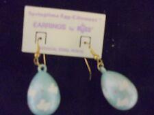 NWT Russ Springtime Easter Egg BLUE  Dangle Pierced Earrings