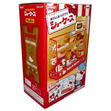 Rare! Re-ment Miniature Hello Kitty Cake, Bread, Food Display Showcase Cabinet