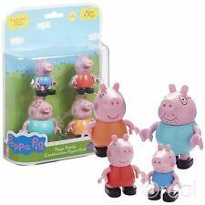 New Peppa Pig Construction Family 4 Figure Pack Mummy Daddy George Official