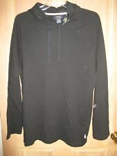 NEW POLO RALPH LAUREN Waffle Pajama Top Sleep Hoodie Shirt MENS S Black