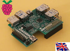 Rs-Pi 7 Ports USB Hub & I2C 23017 x1 16 bit GPIO function Board for Raspberry Pi