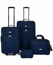 TRAVEL SELECT KINGSWAY 4 FOUR PIECE LUGGAGE SET NAVY BLUE SUITCASE NEW TAGS