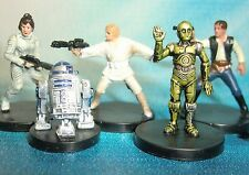 Star Wars Miniatures Lot  Han Solo Luke Skywalker R2-D2 C-3PO !!  s97