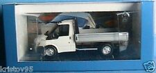 FORD TRANSIT BENNE BLANC SIMPLE CABINE 2000 MINICHAMPS 1/43