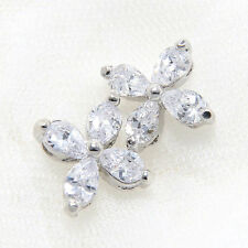 Lot of 6 Mini Star Clear Wedding Bridal Rhinestone Crystal Flat Back Loose Beads