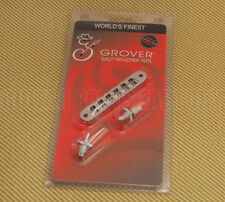 "520C Grover Chrome ""Nashville"" Tune-o-matic Guitar Bridge Retrofits USA Gibson"
