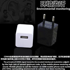 USB Wall Charger Voice Listening Device Wireless GSM Tracker Spy Mini Ear Bug