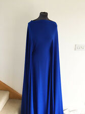 Royal Blue  Medium Weight  Stretch Jersey Crepe Dressmaking Fabric AW-2016