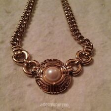 VINTAGE GIVENCHY GOLD AND PEARL NECKLACE