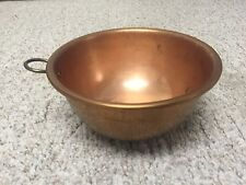 "Vintage 9"" Copper Egg White/Mixing Bowl Thick Heavy Nice!"