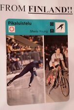 SHEILA YOUNG (Lot of 2) 1977 FINNISH SPORTSCASTER card ICE SKATING From FINLAND