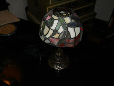 Stained glass Dragon Fly candle lamp- unique-  new