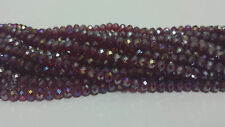 100 Faceted Rondelle Crystal Glass Beads 33 COLOUR 4x6mm FREE P&P