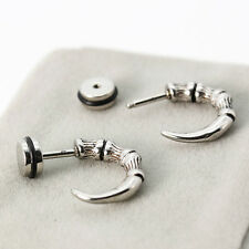 Punk Skull Claw Stainless Steel Studs Earrings Gothic Hip Hop Rock Men Womens