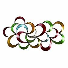 Modern Metal Wall Art Abstract 3D Contemporary Colorful Sculpture Home Decor