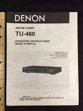 Denon TU-460 Tuner Original Owners Manual tu460