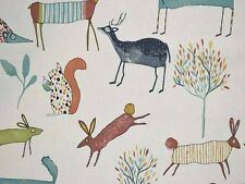 Oh My Deer Marmalade Fabric Remnant   50cm x 40cm  100% Cotton