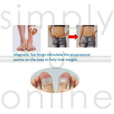 1 Pair Soft Silicone Magnetic Toe Ring Keep Slim Fitness Loss Weight Diet