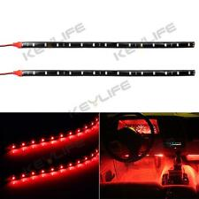 "1pcs Car Interior Under Dash Floor Decorative LED Lights Strip Red 2 x 12"" 15LED"