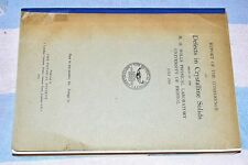Book Report of Conference Defects In Crystalline Solids Physical Society 1955
