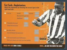 NEWCASTLE UNITED DRUG AWARENESS SCRATCH CARD-1994-ANDY COLE-02