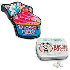 NOVELTY BREATH MINT SET 2PC - BACON & CUPCAKE FLAVORED MINTS CANDY GAG GIFT