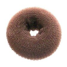 SIBEL Hair Donut Bun Ring Hairdressing Extra Large (11cm) - BROWN