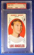 JERRY WEST 1969-70 Topps Trading Card #90 Los Angeles Lakers PSA 5 EX #26176371