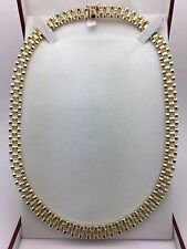 """Men's New Solid 10K Yellow Gold 18"""" Watch Link Chain Necklace 44.2 grams 8.5 mm"""