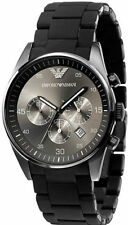 Brand New Emporio Armani AR5889, Full Black Silicone Chronograph watch