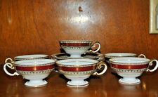 ANTIQUE OHATA CHINA 5 EXCELLENT CUPS AND SAUCERS MADE IN OCCUPIED JAPAN 1947 ERA