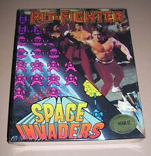 NEW Atari 520 1040 ST computer game Pit-fighter Super Space Invaders SEALED