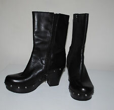 KORKS BY KORK EASE WOMAN'S BLACK MOTO STYLE STUDDED HIGH HEEL BOOTS-SIZE 6/36.5
