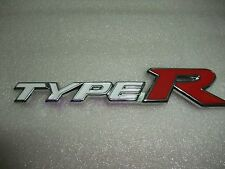 3D new TYPE R TYPER Chrome Emblem Trunk Badge Sticker Logo white+red