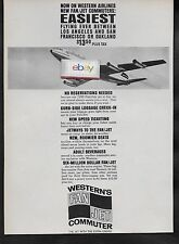 WESTERN AIRLINES 1965 THE BOEING 720B FAN/JET COMMUTER EASIEST WAY TO FLY AD