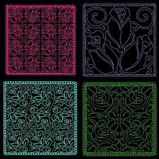 ROSE QUILTING BACKGROUNDS - 36 MACHINE EMBROIDERY DESIGNS (AZEB)