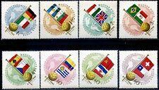 Ungheria 1962 Campionati del Mondo di Calcio in Cile - 8 francobolli ** (m2031)