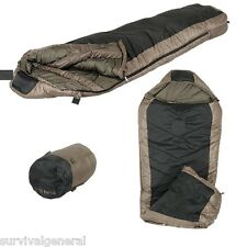 Tactical Mummy Sleeping Bag 0F/-18C Camping Hiking Compression Sack Black/Coyote
