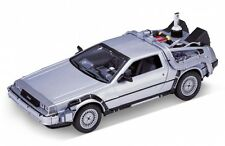 Welly Volver Al Futuro 2 Delorean Time Machine Escala 1/24 Modelo de fundición de coche