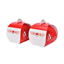 5x Christmas Xmas Party Favor Gifts Biscuit Muffin  Cake Packing Box With Handle