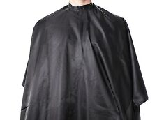 """MD Barber Deluxe Nylon Classic Black Hairdressing Hair Cutting Cape 55""""x66"""""""