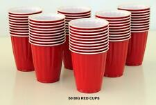 KIRKLAND CHINET THE BIG RED CUP X 50 PCS PLASTIC 532 ML PARTY BEER SCHOONER PONG