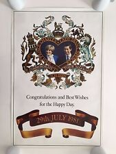 THE ROYAL WEDDING OF PRINCE CHARLES AND LADY DIANA,1981 VINTAGE SET OF 4 POSTERS