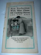 VINTAGE 1910 NEW PERFECTION WICK BLUE FLAME OIL COOKING STOVES MANUAL