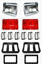 NEW 1968 Ford Mustang Tail Light Bezel kIT Full Set of 6 Lenses Gaskets Housings